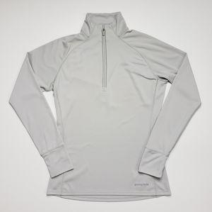 Patagonia Light Gray Long Sleeve Quarter Zip